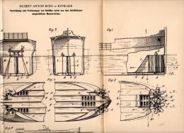 Original Patentschrift - Hubert Anton Boes In Kevelaer , 1898 , Wasserstromausstoß Zur Schiff - Fortbewegung , Schiffbau - Schiffe