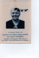 Puffet Hubert Wed Angeline Vandersypt + 1957 80 Ans  Photo - Obituary Notices