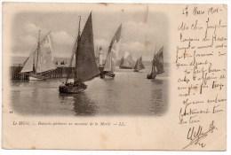 CP, 76, LE HAVRE, Bâteaux-pêcheurs Au Moment De La Marée, Dos Simple, Voyagé En 1901 - Port