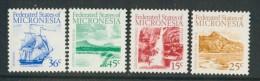 BL4-114 MICRONESIA 1988 MI 89-92 TOURIST SITES. MNH, POSTFRIS, NEUF**. - Micronesië