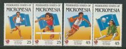 BL4-115 MICRONESIA 1988 MI 93-96 SPORT, OLYMPIC SUMMERGAMES SEOUL, ATHLETICS, ATHLETIEK. MNH, POSTFRIS, NEUF**. - Micronesië