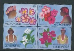 BL4-117 MICRONESIA 1989 MI 123-126st FLOWERS, FIORI. BLUMEN, BLOEMEN, FLEURS, FLORES. MNH, POSTFRIS, NEUF**. - Micronesië