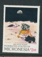 BL4-118 MICRONESIA 1989 MI 141 AEROSPATIAL, RAUMFAHRT, LUNARDRIVE, MONDFAHRE. MNH, POSTFRIS, NEUF**. - Micronesië