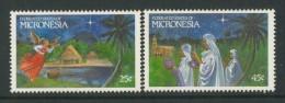 BL4-119 MICRONESIA 1989 MI 172-173 CHRISTMAS, WEIHNACHTEN, NOEL, KERST, JUL, NATAL, NAVIDAD. MNH, POSTFRIS, NEUF**. - Micronesië