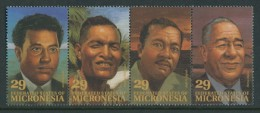 BL4-123 MICRONESIA 1993 MI 298-301st PERSONALITIES, PERSONLICHKEITEN. MNH, POSTFRIS, NEUF**. - Micronesië