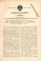 Original Patentschrift -R. Wagner In Oelheim B. Edemissen / Peine ,1892 , Oel - Bohrbrunnen , Brunnen , Wasser , Bergbau - Deutschland