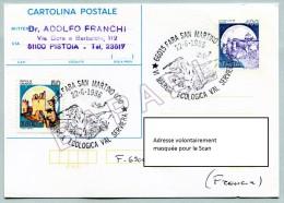 Entier Postal - Italie (Fara San Martino) (22-6-1986) - Val Serviera Cadre Écologique (JS) - 6. 1946-.. Repubblica