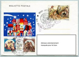 Entier Postal - Italie (Lucques) (28-9-1986) - Noël 1982 (JS) - 6. 1946-.. Repubblica