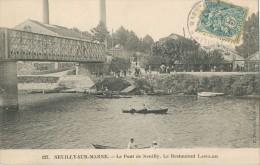 CPA NEUILLY SUR MARNE - LE PONT DE NEUILLY - LE RESTAURANT LANGLOIS - PETIT PRIX - RARE - Neuilly Sur Marne