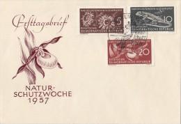 1957 Germany / DDR FDC NATUR - SCHUTZWOCHE 1957, Mi 561 - 563 FDC - Brieven En Documenten