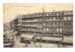 Cp, 59, Lille, Place De La Gare, Voyagée 1923 - Lille