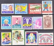 U.S.  Christmas Labels. **  * - Unused Stamps