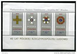 POLAND 1984 40th Annn July Manifesto Souvenir  Sheet Of 4 Scott 2633a  MNH ** - Blocks & Sheetlets & Panes