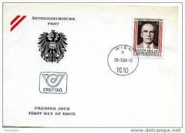 AUTRICHE 1980  FDC Président Kirschlager  Mi Nr 1635 - FDC