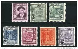 ANDORRA 1948  Mi Nr 44-50 *