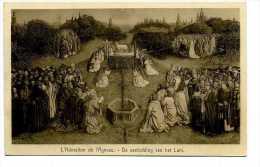GAND - GENT Cathédrale Saint-Bavon  L´Agneau Mystique Par Van Eych - Gent