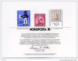 USPS Official 1976 NORDPOSTA ´76  International Space Stamp Exhibition - Hamburg, Germany   Souvenir Card- - Philatelic Exhibitions