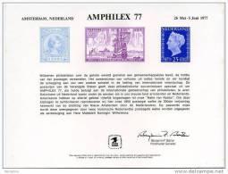 USPS Official 1977 AMPHILEX International  Stamp Exhibition Amsterdam, Holland  Souvenir Card- - Esposizioni Filateliche