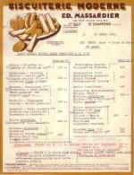 LOIRE - SAINT CHAMOND - BISCUITERIE MODERNE - ED. MASSARDIER - 1958 - Alimentaire