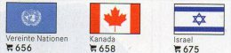 Vario 6 Stamp+ 3x2 Farben Flaggen-Sticker 4€ Zur Kennzeichnung An Alben Karten Sammlungen LINDNER #600 Flag Of The World - Drapeaux
