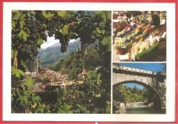 CARTOLINA VG ITALIA - MERANO (BZ) - Vedutine - 12 X 17 - ANNULLO BILINGUE SILANDRO 2001 - Merano