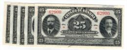 25 Cent. Est. SONORA, 1915, X5 , UNC, ( Price For Each One- PRECIO POR CADA PIEZA) - Mexico