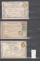 CPA  Ambulant Bordeaux à Cette  -  3 Pièces - Postmark Collection (Covers)