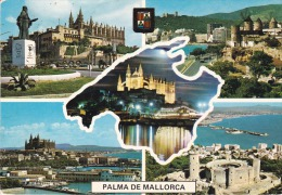 España--Mallorca--Catedral Y Castillo De Bellver--Molinos-----Fechador-Palma ,a Francia - Molinos De Viento