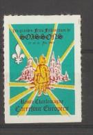 VIGNETTE - 1964 PUBLICITE LES GRANDES FETES FOLKLORIQUES DE SOISSONS - Erinnophilie