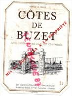 """47- BUZET SUR BAISE- DAMAZAN - ETIQUETTE VIN """"  COTES DE BUZET """" - Alimentaire"""