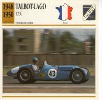 Fiche Technique Voiture 1948 / 1950 TALBOT LAGO T26C / VOITURE DE COURSE - Voitures