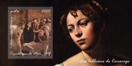 DJIBOUTI SHEET IMPERF CARAVAGGIO ART PAINTINGS - Rubens