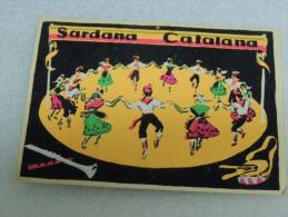 Retro Card 1970 Sardana Barcelona Catalana Tarjeta Postal Casa Viadar - San Feliu De Guixols - Barcelona