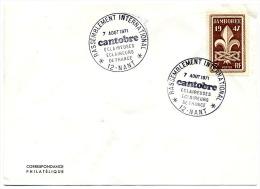JAMBOREE ECLAIREURS SCOUTISME CANTOBRE 1971 à NANT (12) - Cachets Commémoratifs