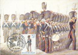 D15849 CARTE MAXIMUM CARD 1983 BELGIUM - GRENADIER UNIFORM CP ORIGINAL - Militaria