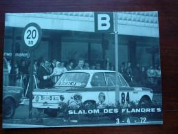 Slalom De L´ouest 1972  BMW  Foto 12,5 X 17,5 - Automobili