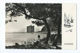 CPSM : Cannes - Ruines Du Vieux Château Fortifié De L'Abbaye De Lérins