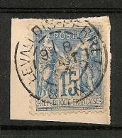 LEVALLOIS PERRET Seine Sur SAGE. - Marcophilie (Timbres Détachés)