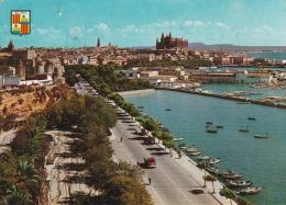 España--Mallorca--1962--Vista Desde El Paseo Maritimo--Molinos--Fechador-Palma-a,Cherbourg, Francia - Molinos De Viento