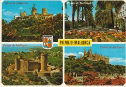 España--Mallorca--1987-Varias Vistas--Molinos--Castillo--Catedral----Fechador--Palma ,a Zellik,Belgica - Molinos De Viento
