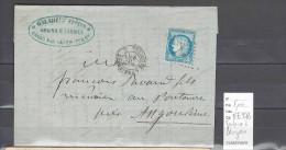 Lettres  Ambulant  Toulouse à Périgueux  1873 - Postmark Collection (Covers)