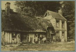 Rare Vue Extérieure Par Franck. Chaumière à Veules-en-Caux (Veules-les-Roses). 1860-70. - Anciennes (Av. 1900)