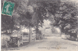23011 VILLETTE -- (France 28 ) Pont Et Rue Principale -clic Bertran Mantes -vieille Voiture