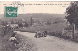 23012 SainT St-REMY-LES-CHEVREUSE (france 78) , Une Panne Sur La Descente De La Trinité -2067 EM Vieille Voiture 771-E2 - Voitures De Tourisme