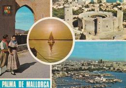 España--Mallorca--Pareja Tipica Y Varias Vistas---a,Saint Etienne, Francia - Costumi