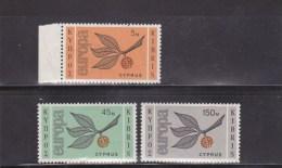 CHYPRE - EUROPA - YVERT N° 250/252 ** - COTE = 60 EUROS - Chypre (République)