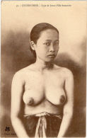 Indochine Indochina Vietnam Viet Nam Cochinchine Lady Vintage Postcard / Topless / Nude - Vietnam