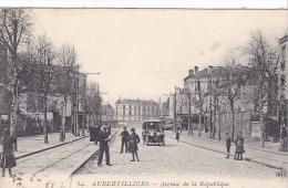 23020 France Aubervilliers Avenue De La Republique -ELD 34 -automobile Vieille Voiture - Voitures De Tourisme