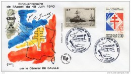 CHARLES DE  GAULLE Cinquantenaire De L´appel Du 18 Juin 1940 - St.NAZAIRE - De Gaulle (Generaal)