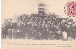 23023 France 28 - CHARTRES - Harmonie Chartraine - Grand Concours International Bordeaux Mai 1904 -Esquiro ! Pliure - Musique Et Musiciens